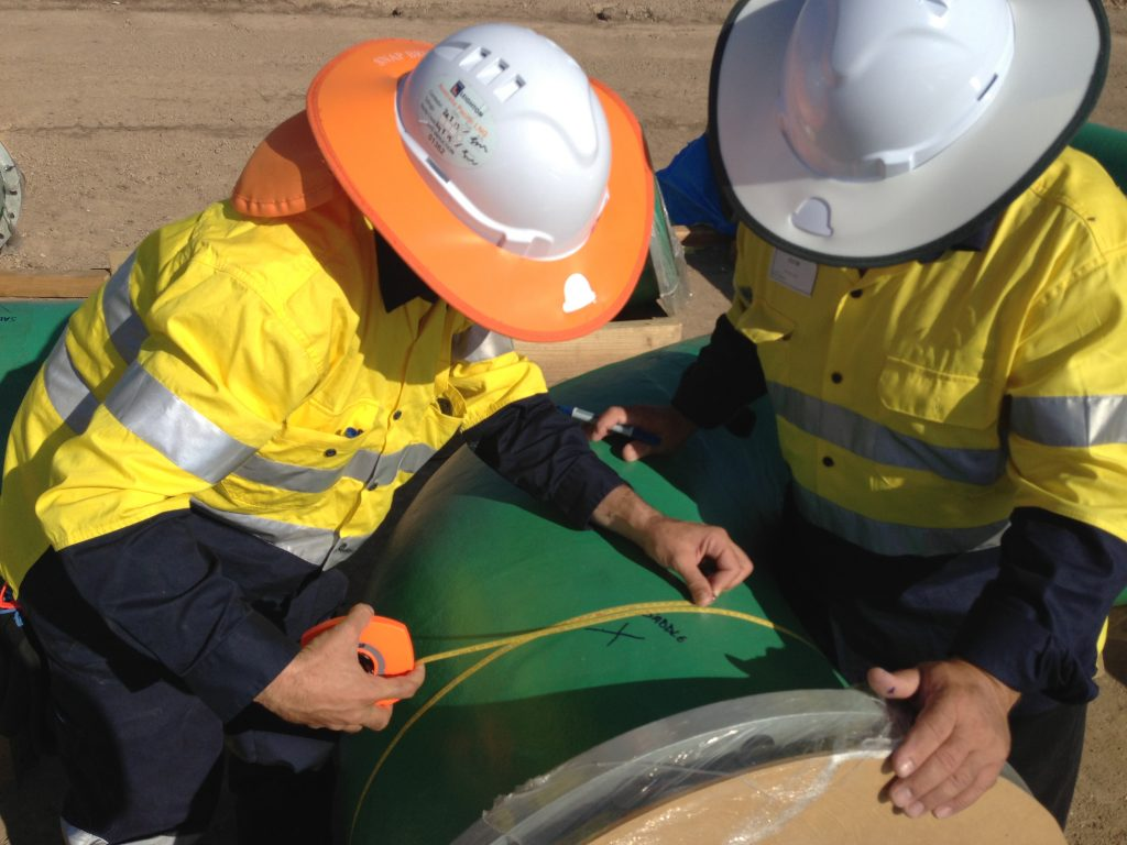 DSA onsite GRP pipeline inspection and measuring - Projects