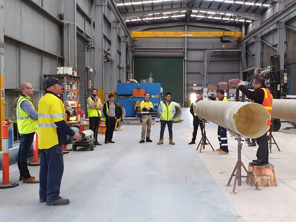 Dennis Southam & Associates FRP pipe training course - Training